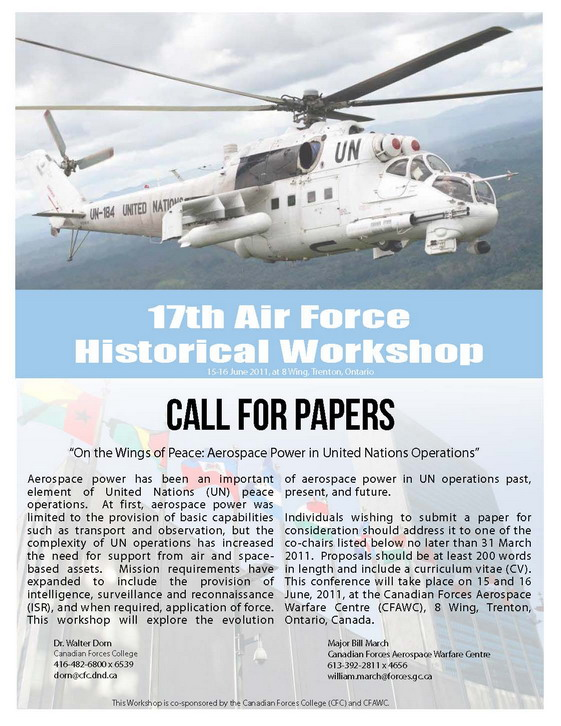 Aerospace-Power-In-UN-Operations_WorkshopPoster_17th-AF-HistWS_15-16June2011_HalfSize