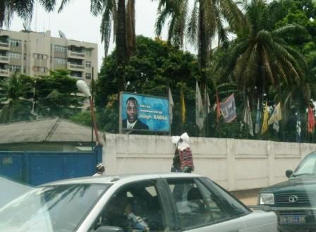 advertisement for President Kabila