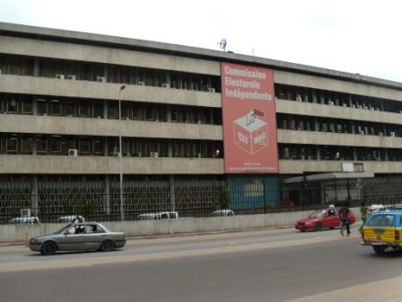 Independent Electoral Commission headquarters in Kinshasa