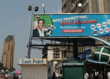 Back in Kinshasa before leaving, the signs of the global culture are there: Will Smith, ESPN, CNN, etc